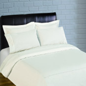 300 Thread Count Scallop Embroidery Percale Sheet Set - white