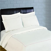 300 Thread Count Scallop Embroidery Percale Duvet Set - rose