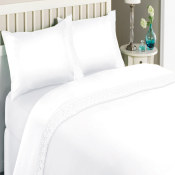 Katherine Lace Microfiber Sheet Set White