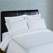 300 Thread Count Scallop Embroidery Percale Duvet Set - taupe